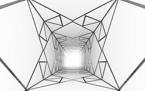 三维空间几何结构背景图片
