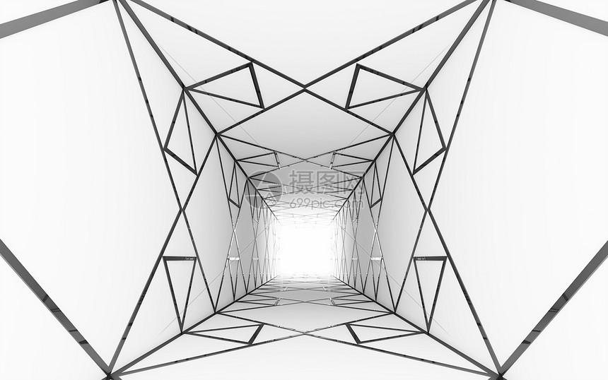三维空间几何结构背景