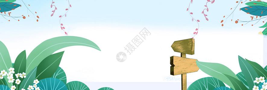 植物电商淘宝背景图片