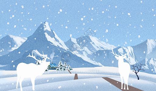 夜空里的雪山图片
