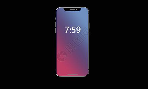 创意iPhoneX手机模型图片