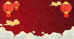 红色福字喜庆背景图片