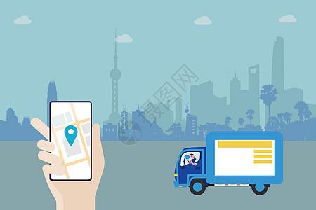 运输货物手绘图片