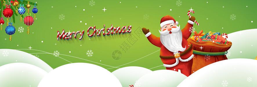 圣诞节雪景banner图片