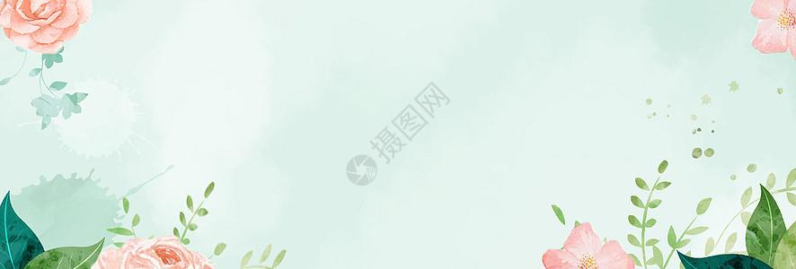 小清新花草背景高清图片