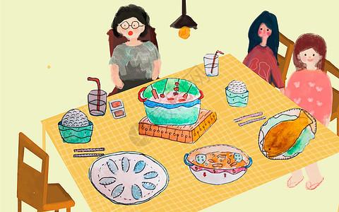 聚餐插画图片