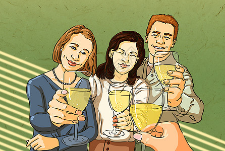 聚会庆祝插画图片