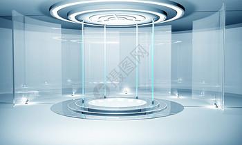 科技感玻璃空间图片