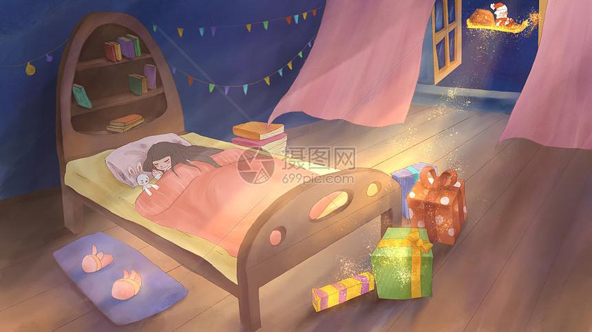 圣诞老人的神秘礼物图片