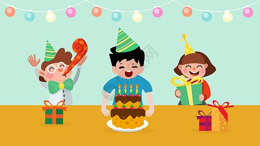 儿童生日聚会图片