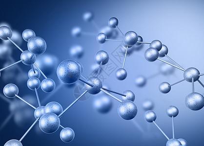 小球蓝色科技背景图片