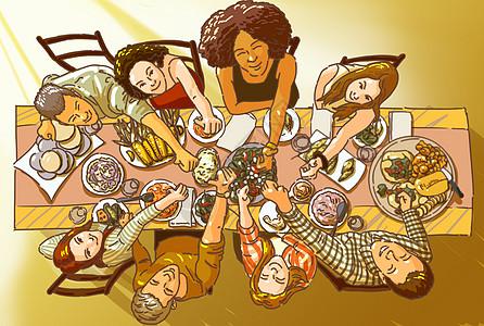 聚会插画图片