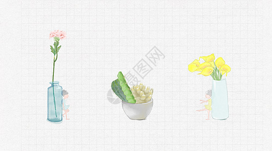 水彩花物图片