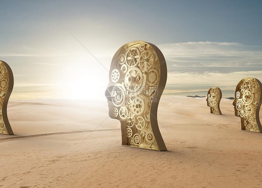 机械大脑图片