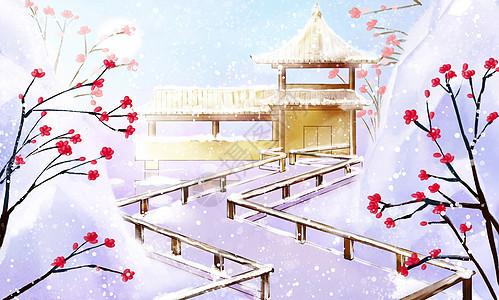 古风唯美雪景图片