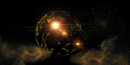黑金科技星球背景图片