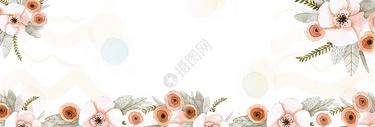 唯美花从banner图片
