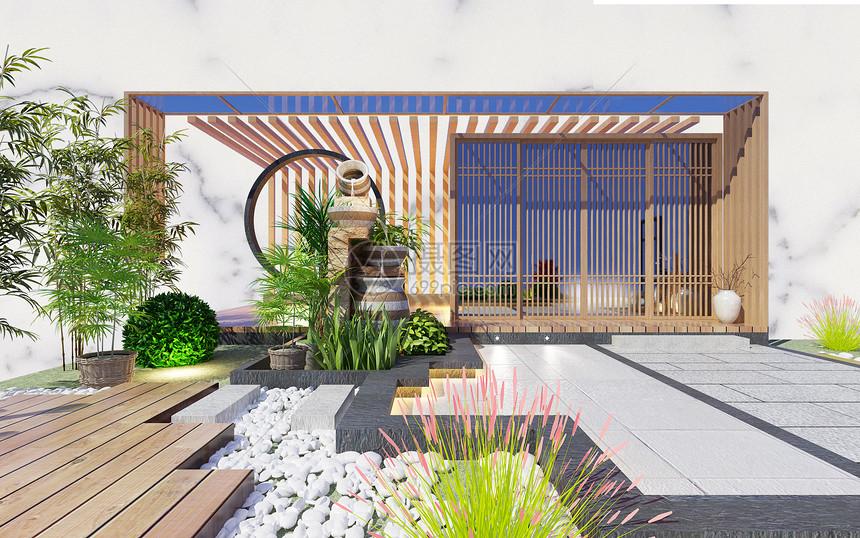 日式庭院图片