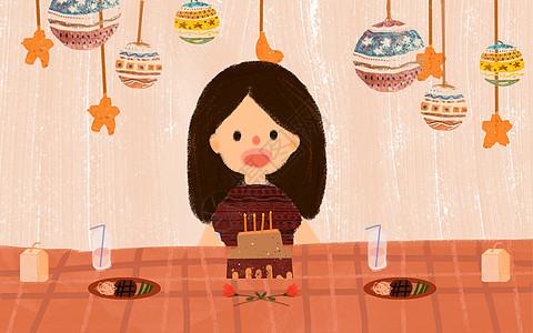 庆祝生日的女孩图片