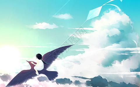 云海中的少女图片