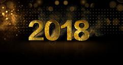 新年黑金大气背景图片
