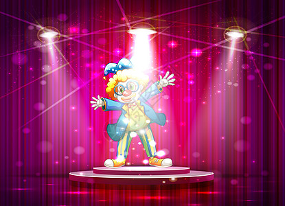 舞台表演的小丑图片