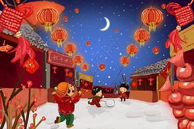 新年除夕夜图片