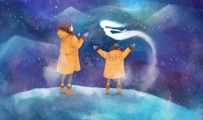 亲子梦幻之旅遇见雪精灵图片