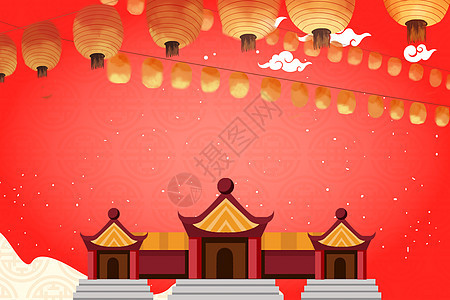 红色新年图片