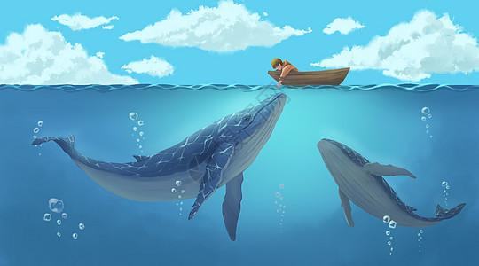 男孩与鲸鱼图片