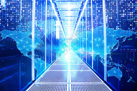 现代化云端服务器图片