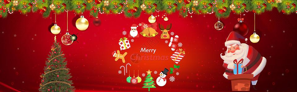 圣诞节背背景海报图片