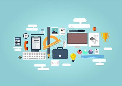 现代化办公学习背景素材图片