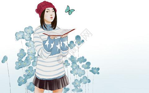 文艺美女6图片