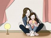 欢乐的母女图片