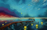 海边的流星图片