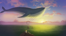 梦中的鲸鱼图片