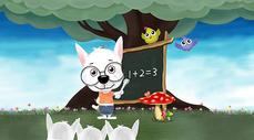 小狗教学插画图片