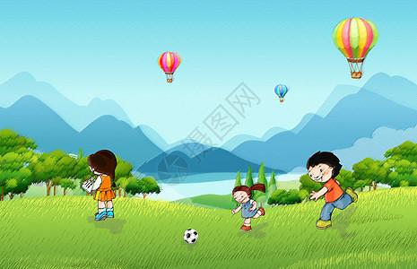 草地玩耍图片