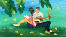 校园浪漫图片