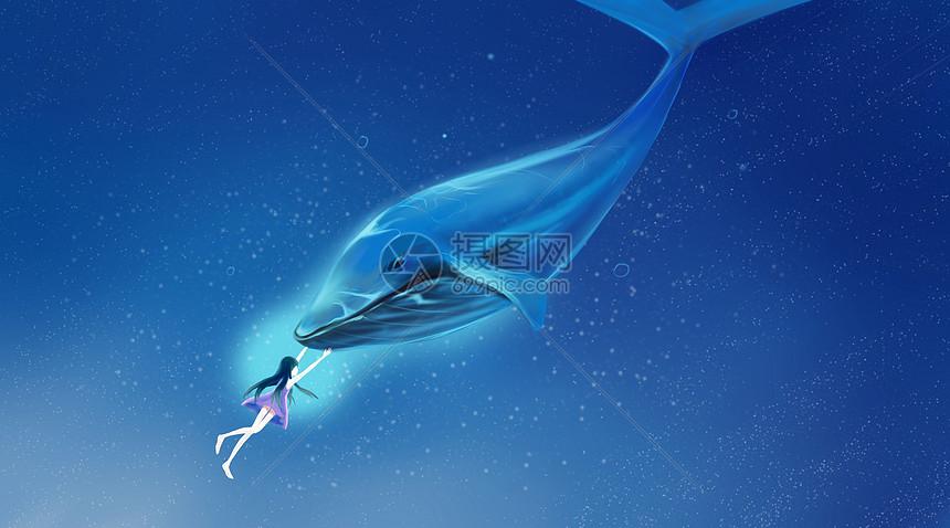 大海蓝鲸图片