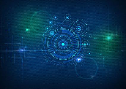 蓝色科技感矢量背景图片