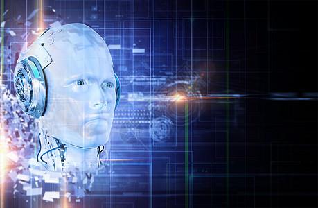科技感人脸识别图片