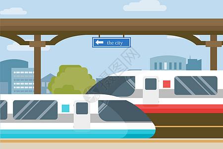 火车交通出行图片
