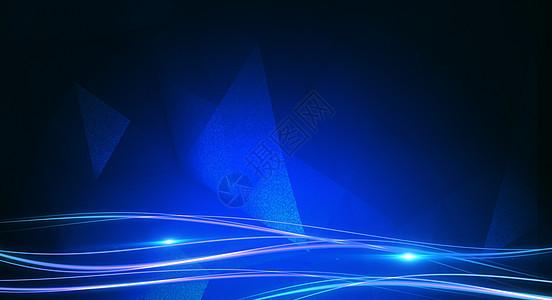蓝色科技炫光背景图片