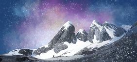 暴风雪下的山谷图片