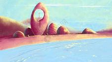 异域风情小清新的绚丽沙滩图片