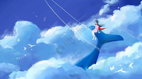 白蓝帆鲸图片
