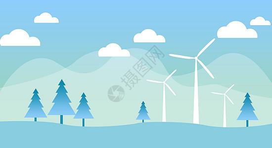 生态环保插画图片
