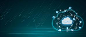 互联网云服务科技背景图片